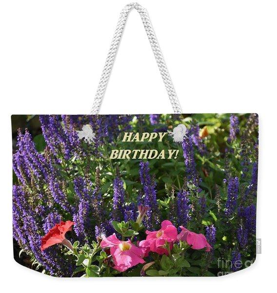 Birthday Flowers Weekender Tote Bag