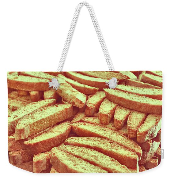 Weekender Tote Bag featuring the photograph Biscotti Di Prato by JAMART Photography