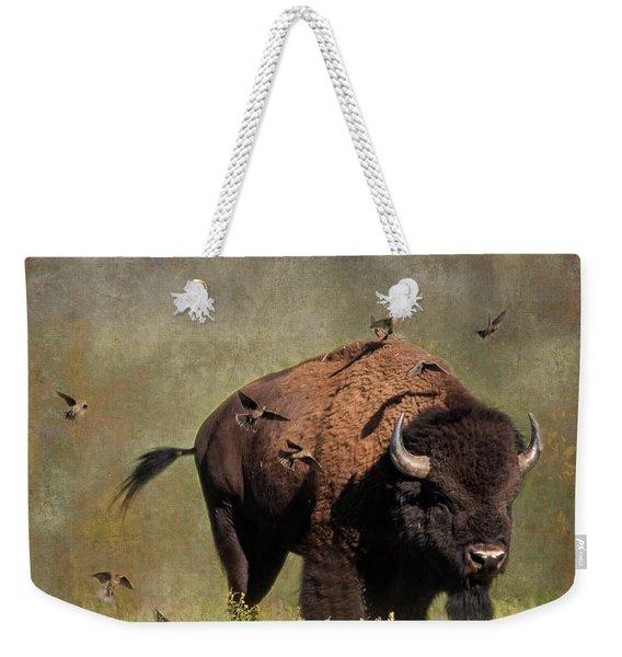 Bison And Friends Weekender Tote Bag