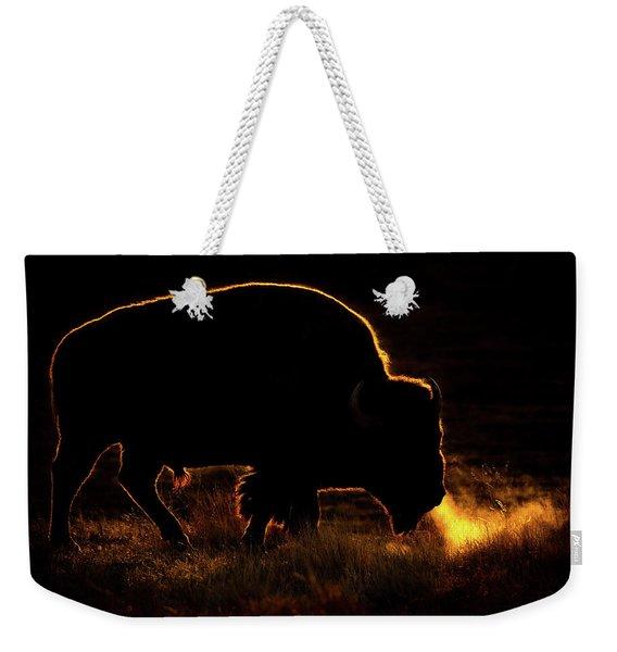 Bison Breath Weekender Tote Bag