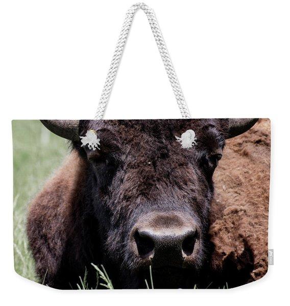 Bison In Custer State Park South Dakota Weekender Tote Bag