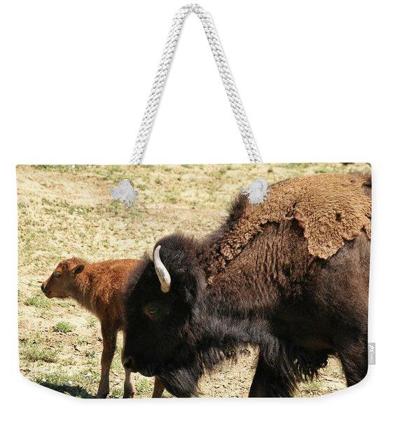 Bison In North Dakota Weekender Tote Bag