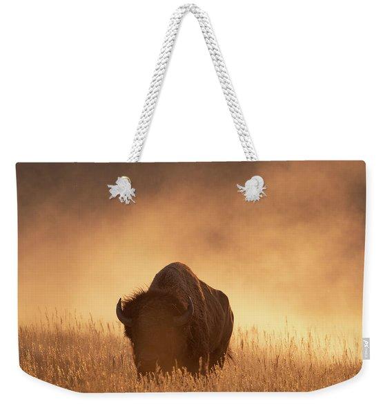 Bison In The Dust 2 Weekender Tote Bag