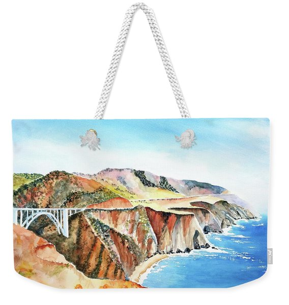 Bixby Bridge 3 Big Sur California Coast Weekender Tote Bag