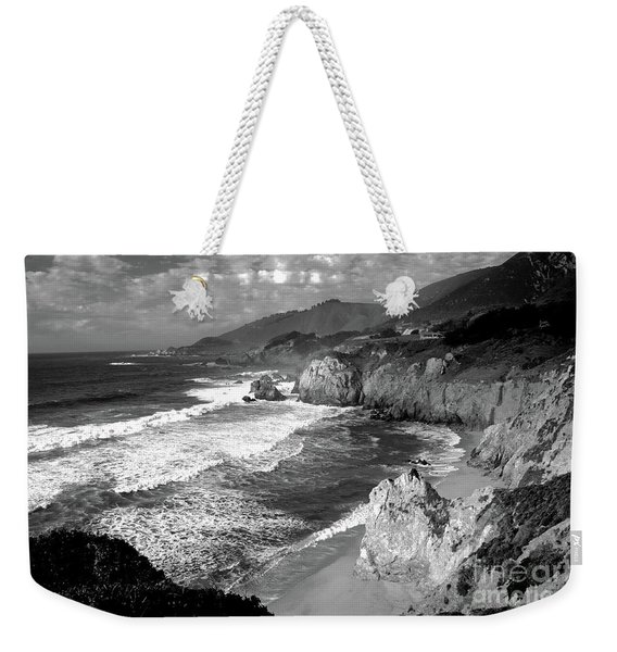 Black And White Big Sur Weekender Tote Bag