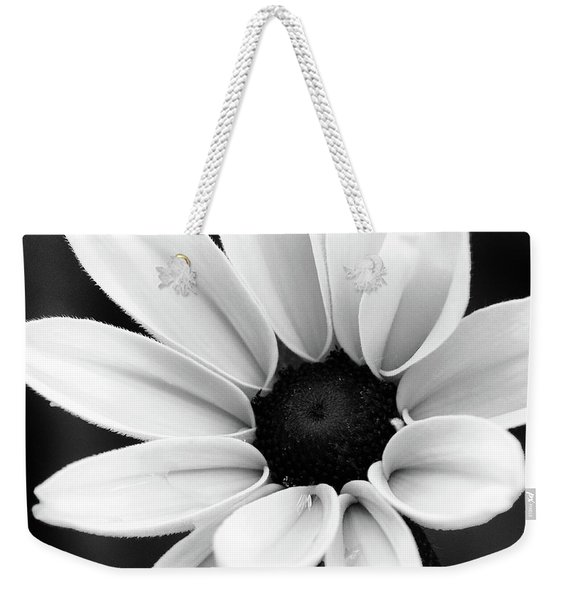 Black And White Daisy Flower Weekender Tote Bag