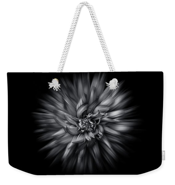 Black And White Flower Flow No 5 Weekender Tote Bag