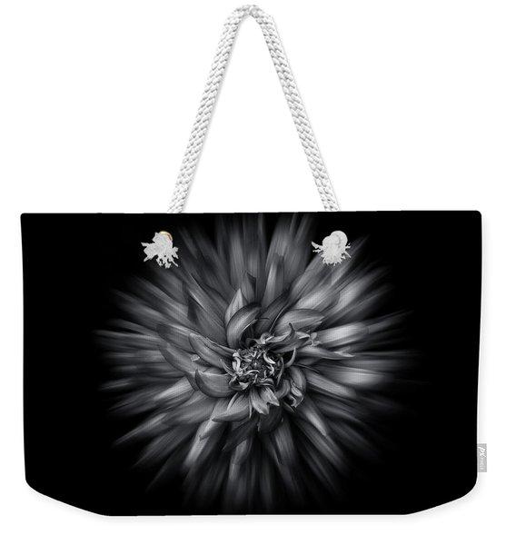 Black And White Flower Flow No 5 Weekender Tote Bag