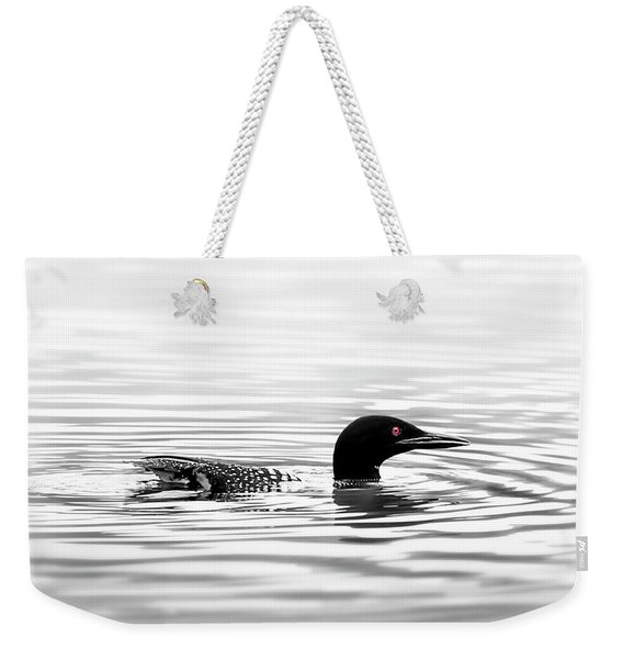 Black And White Loon  Weekender Tote Bag