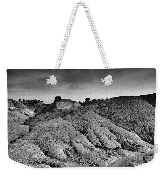Black And White New Mexico Isolation  Weekender Tote Bag