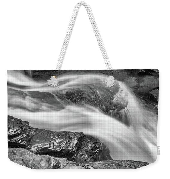 Black And White Rushing Water Weekender Tote Bag