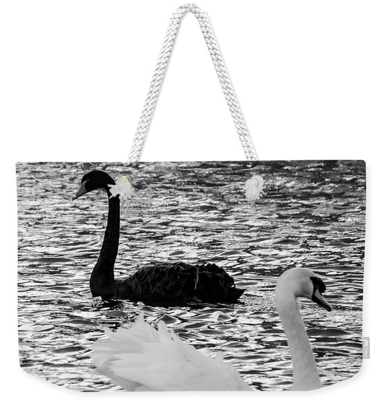 Black And White Swans Weekender Tote Bag