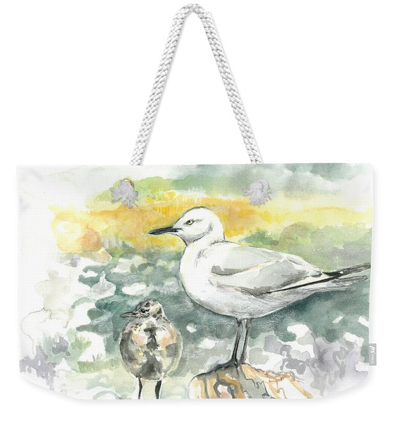 Black-billed Gull Family Weekender Tote Bag