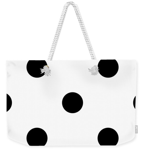 Black Dots On A White Background- Ddh610 Weekender Tote Bag