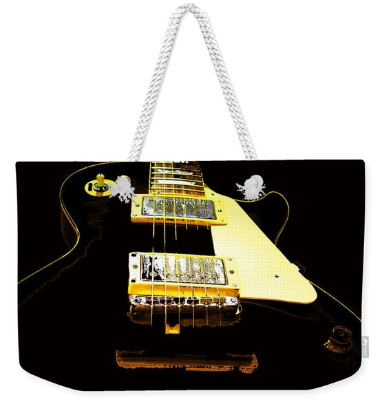 Black Guitar With Gold Accents Weekender Tote Bag
