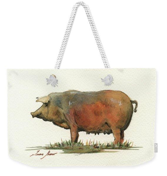Black Iberian Pig Weekender Tote Bag
