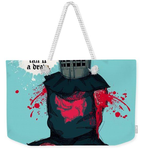 Black Knight Weekender Tote Bag