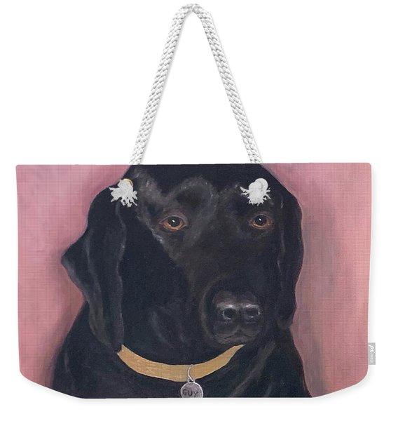 Black Lab Weekender Tote Bag