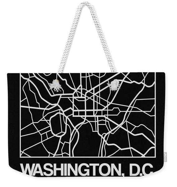 Black Map Of Washington, D.c. Weekender Tote Bag