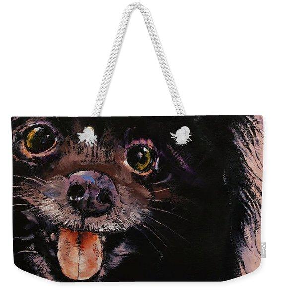 Black Pomeranian Weekender Tote Bag