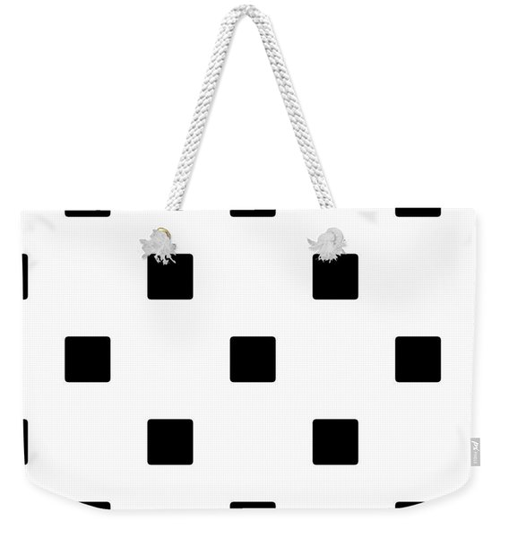 Black Squares On A White Background- Ddh574 Weekender Tote Bag