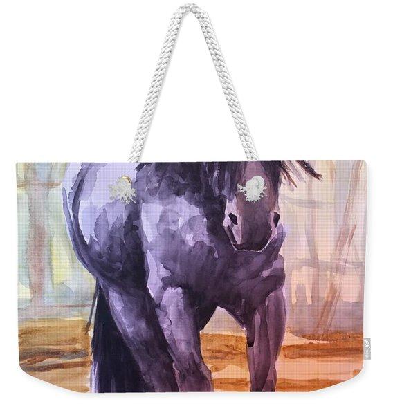 Black Stallion Weekender Tote Bag