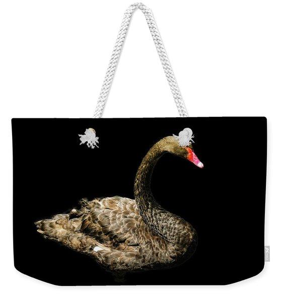 Black Swan On Black  Weekender Tote Bag