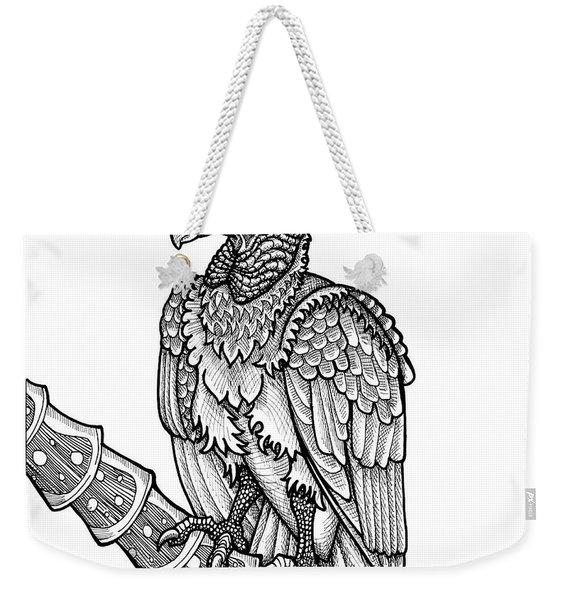 Black Vulture Weekender Tote Bag