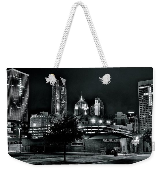 Blackest Of Nights In Okc Weekender Tote Bag