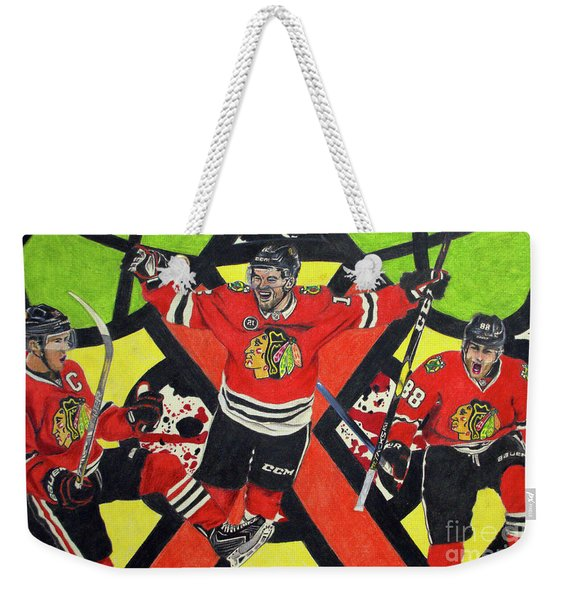 Blackhawks Authentic Fan Limited Edition Piece Weekender Tote Bag