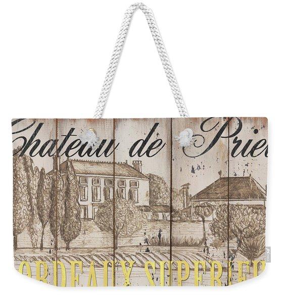 Blanc Wine Label 1 Weekender Tote Bag