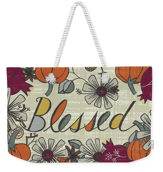 Blessed Fall Art Cream Background Weekender Tote Bag