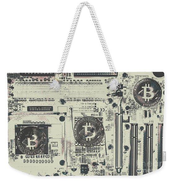 Block Mining Weekender Tote Bag
