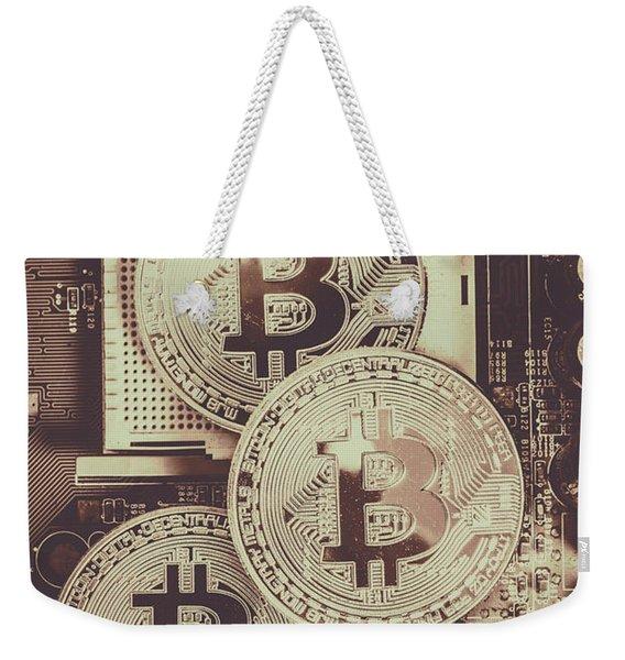 Blocks Of Bitcoin Weekender Tote Bag