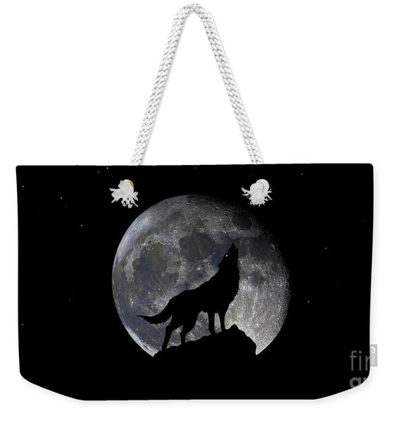 Pre Blood Red Wolf Supermoon Eclipse 873r Weekender Tote Bag