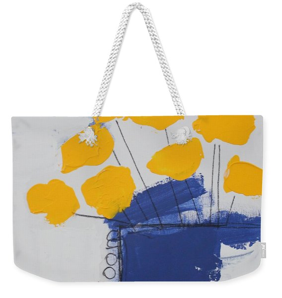 Weekender Tote Bag featuring the painting Bloom by Kim Nelson