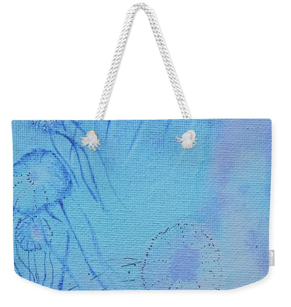 Weekender Tote Bag featuring the painting Blooming Behind The Scenes by Kim Nelson