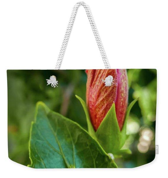 Blooming Hibiscus Weekender Tote Bag