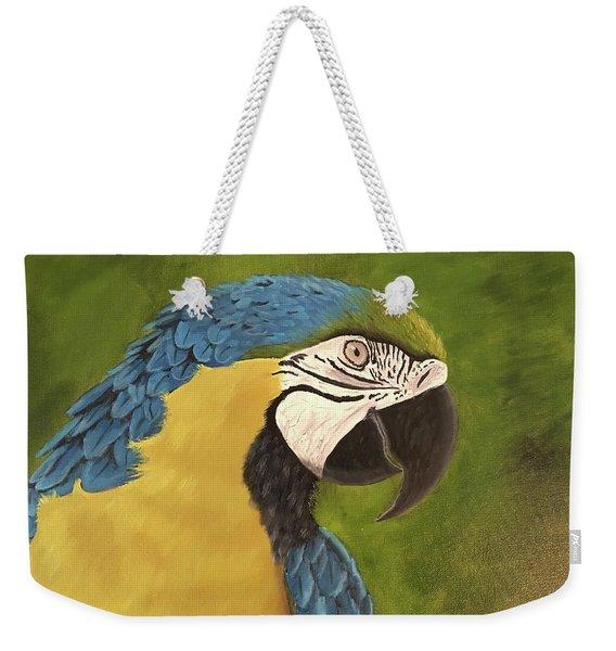 Blue And Gold Mccaw Weekender Tote Bag