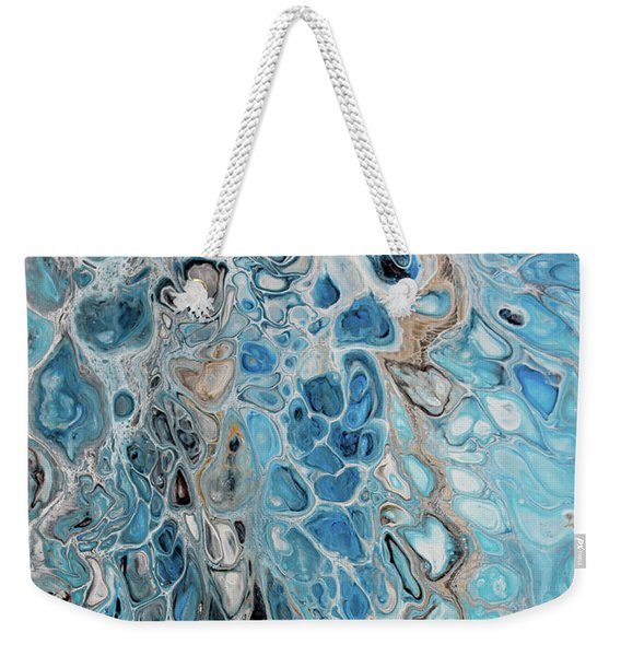 Blue And Gold Patterns Weekender Tote Bag