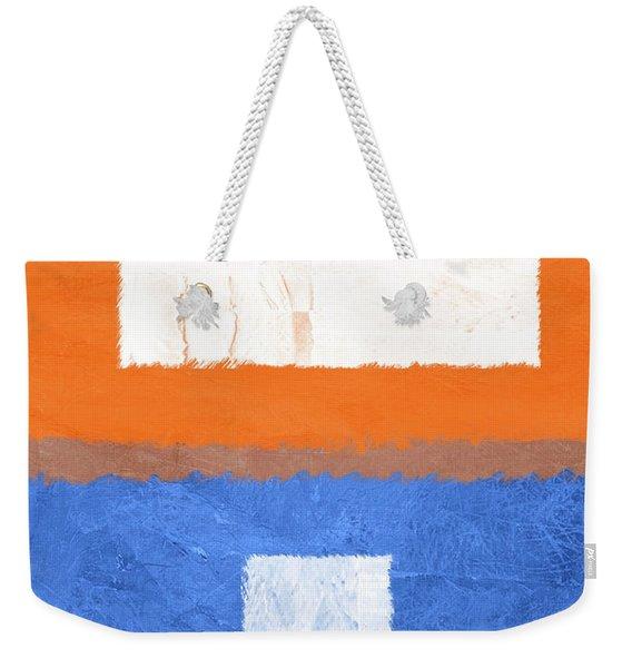 Blue And Orange Abstract Theme II Weekender Tote Bag