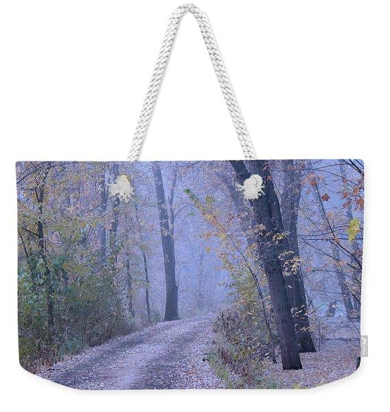 Blue Autumn Weekender Tote Bag