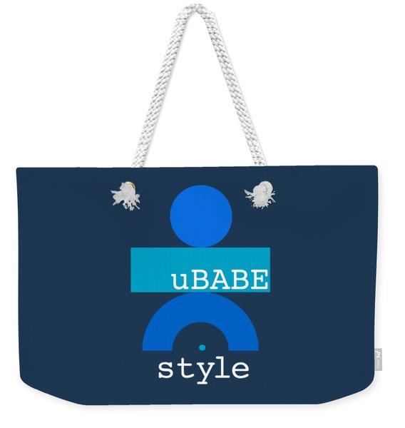 Blue Babe Weekender Tote Bag