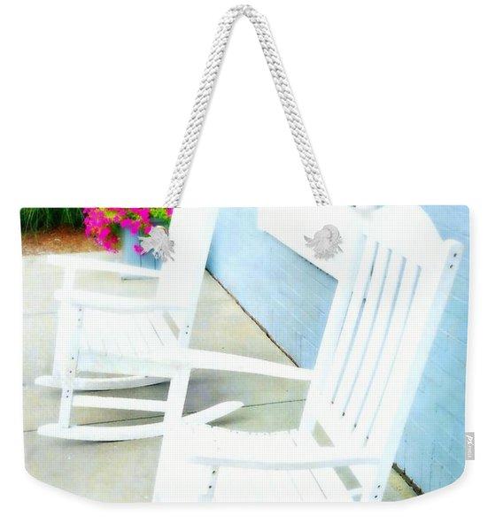 Blue Bermuda Weekender Tote Bag