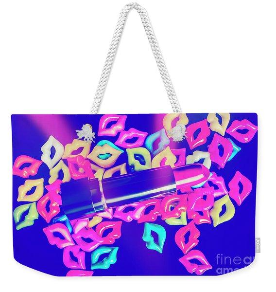 Blue Glam Weekender Tote Bag