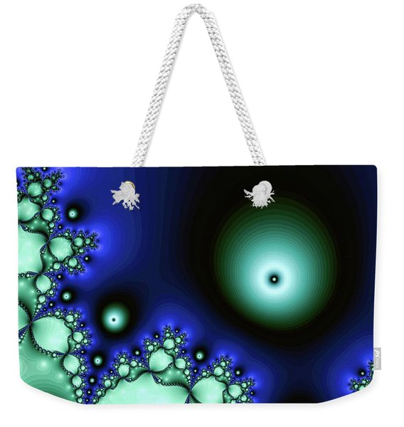 Blue Glowing Bliss Abstract Weekender Tote Bag