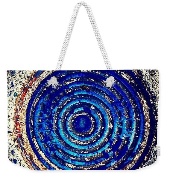 Blue Grate Weekender Tote Bag