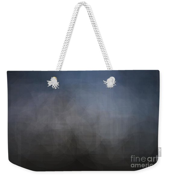 Blue Gray Abstract Background With Blurred Geometric Shapes. Weekender Tote Bag