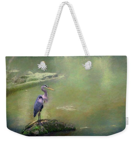 Blue Heron Isolated Weekender Tote Bag