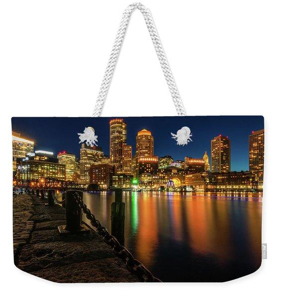Blue Hour At Boston's Fan Pier Weekender Tote Bag